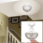 Hampton Direct Ceiling Clip On Diamond Cut Acrylic Dome Light Shade Bulb Fixture Walmart Com Walmart Com
