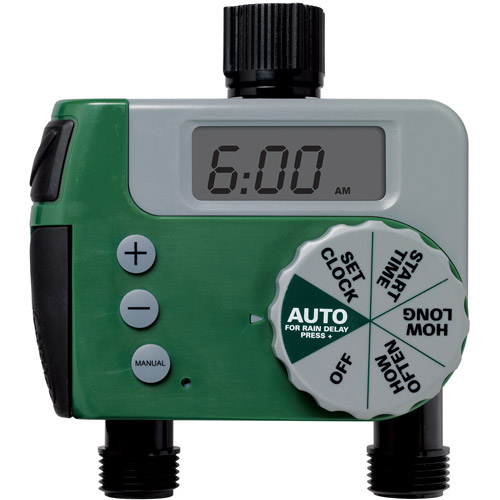 Orbit Digital Two Automatic Outlet Hose Faucet Lawn Watering Timer - 62062N