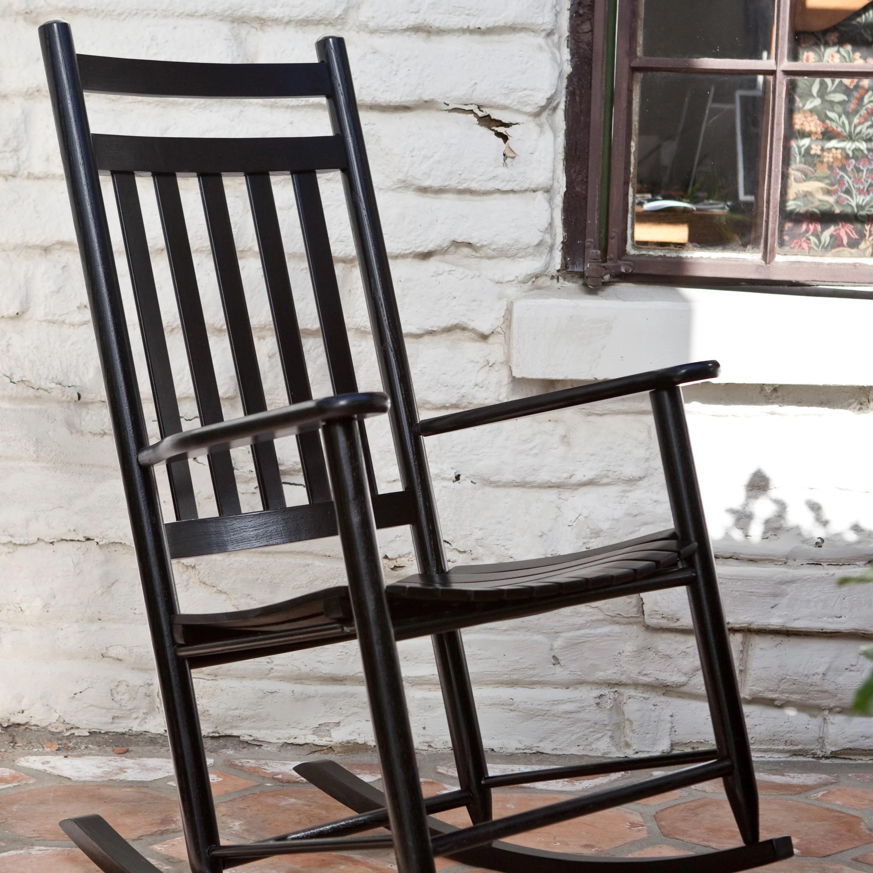 black rocking chairs karlstad chair cover isunda gray dixie seating indoor outdoor slat walmart com