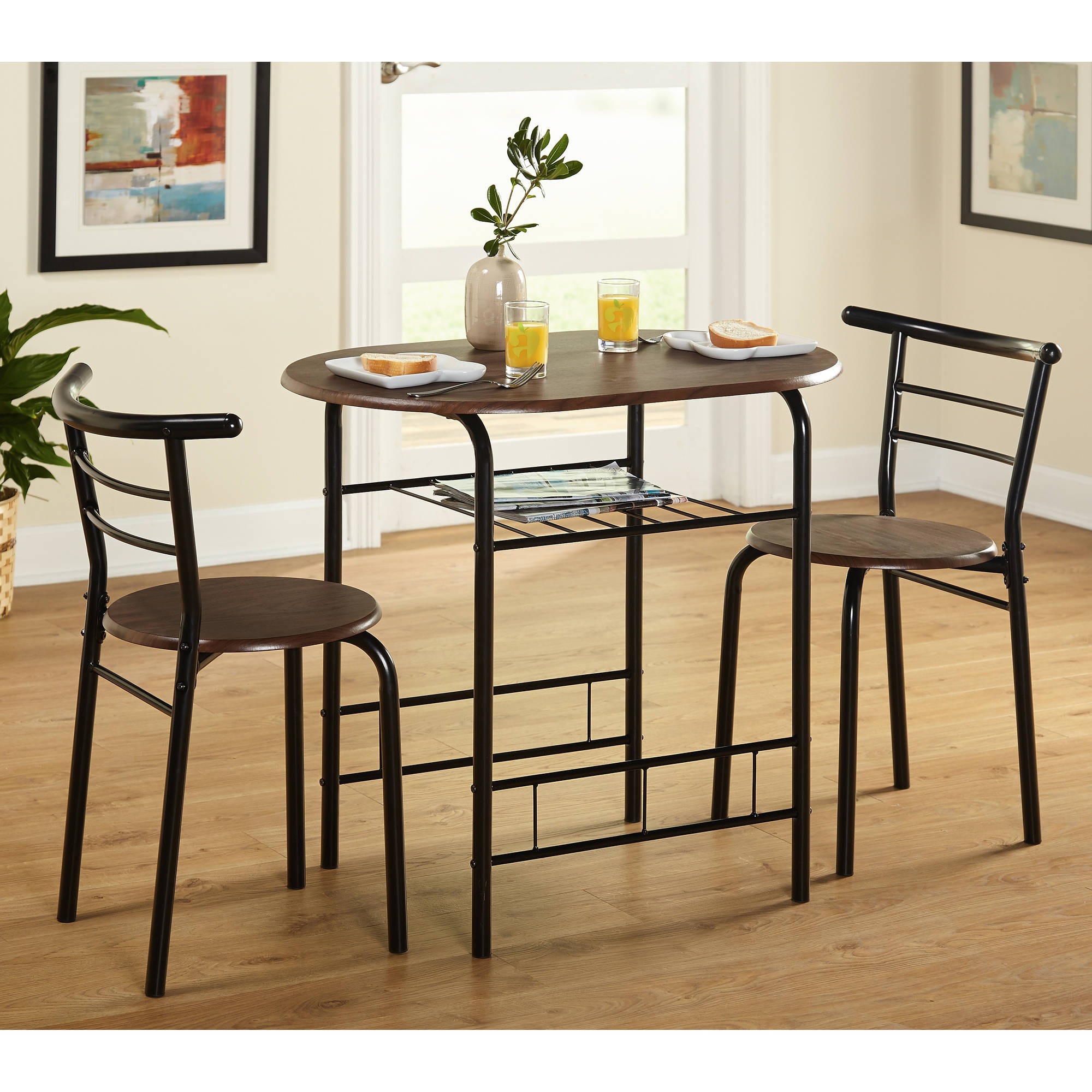 3 piece table and chair set small swivel tms bistro dining walmart com