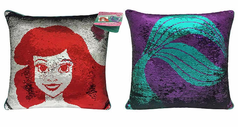 disney little mermaid ariel reversible sequin pillow walmart com