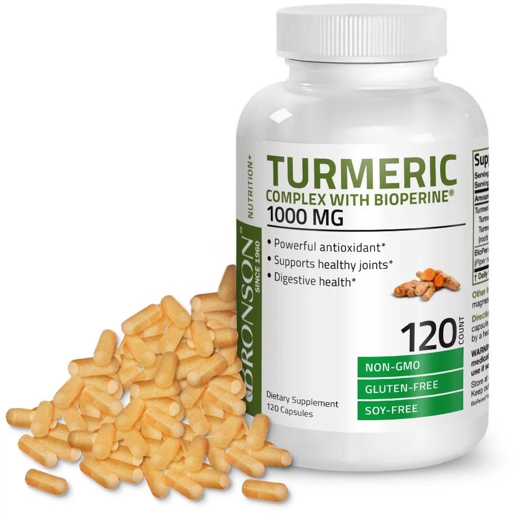 Turmeric Curcumin + BioPerine High Potency Joint Support ...