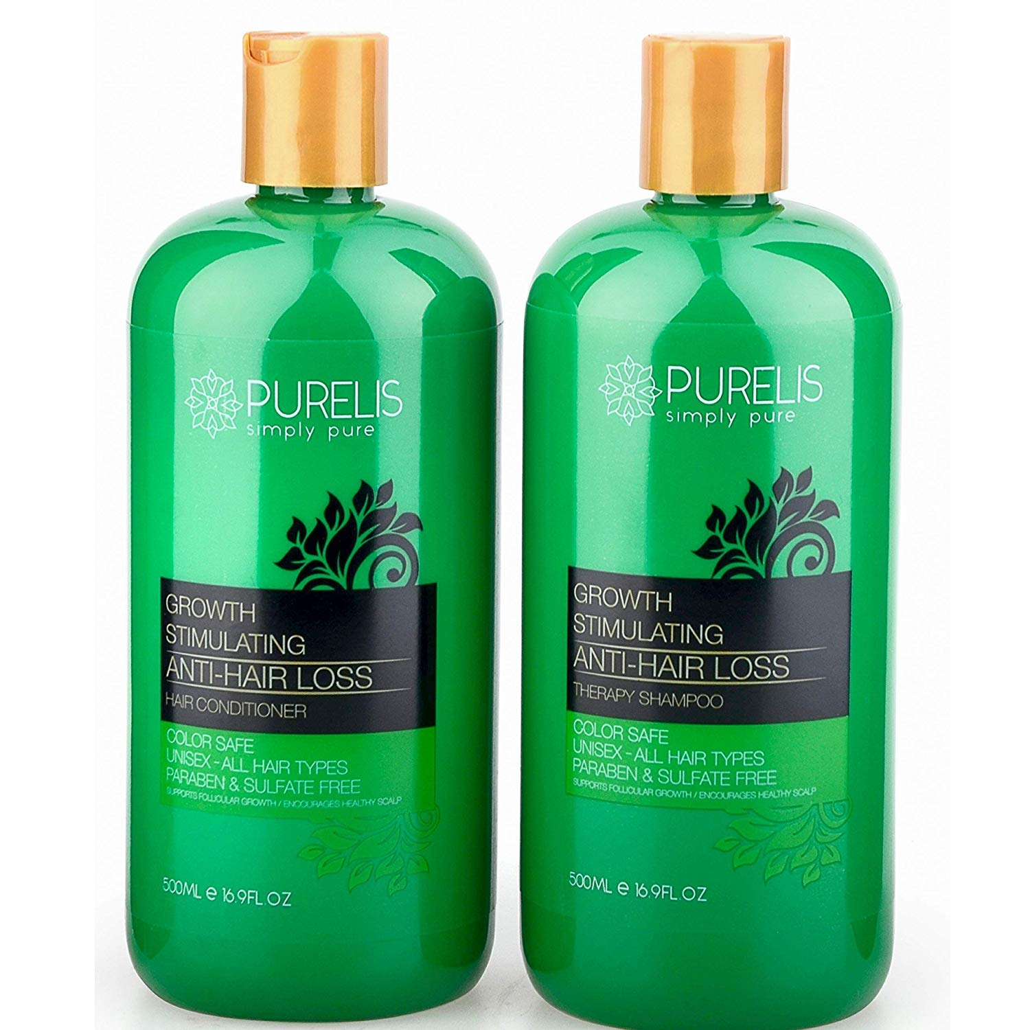Hair Growth Shampoo & Conditioner Set - Sulfate Free ...