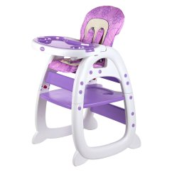 Chair Desk Combo White Wooden Folding Chairs Evezo Merly High Purple Walmart