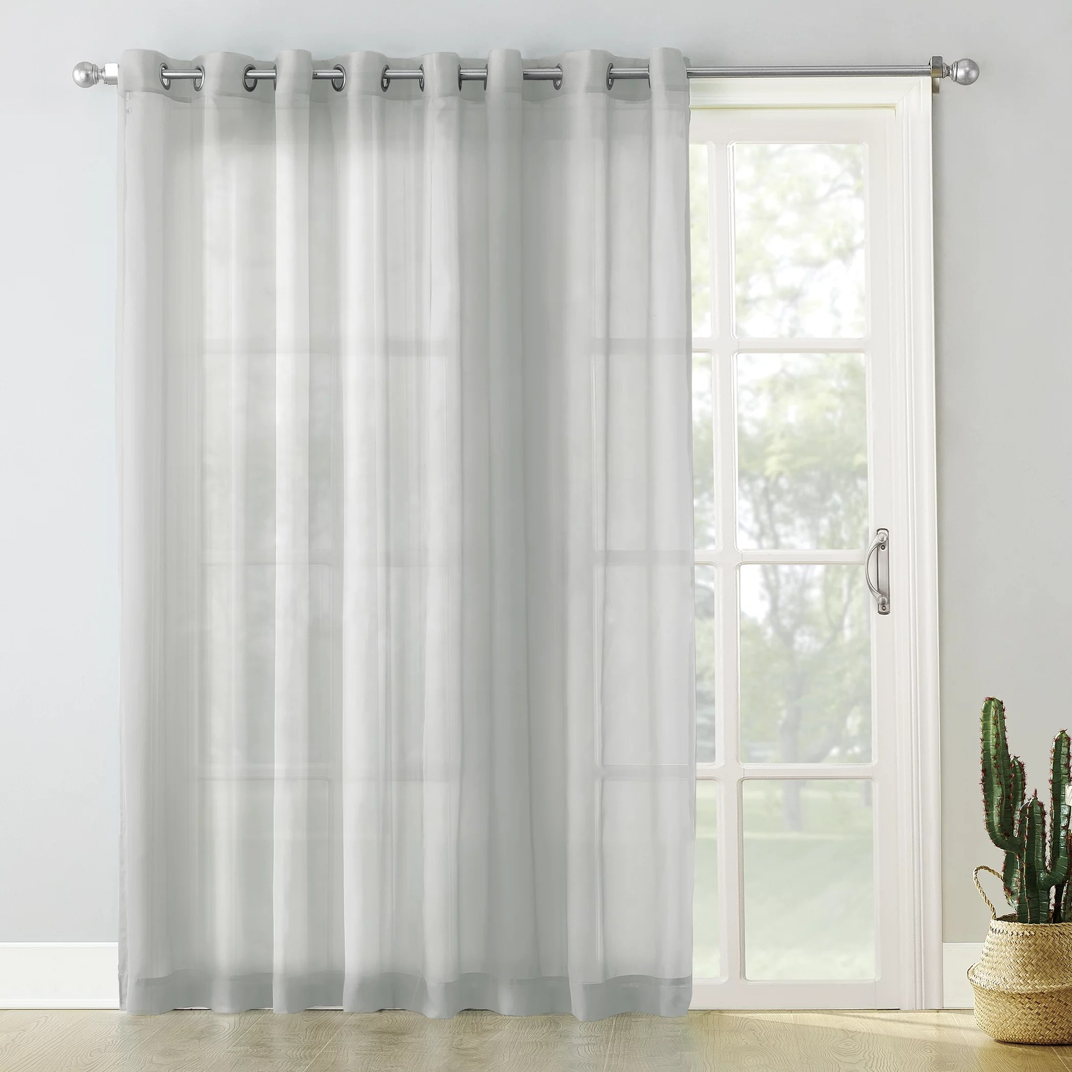 no 918 emily extra wide sheer voile sliding door patio curtain panel