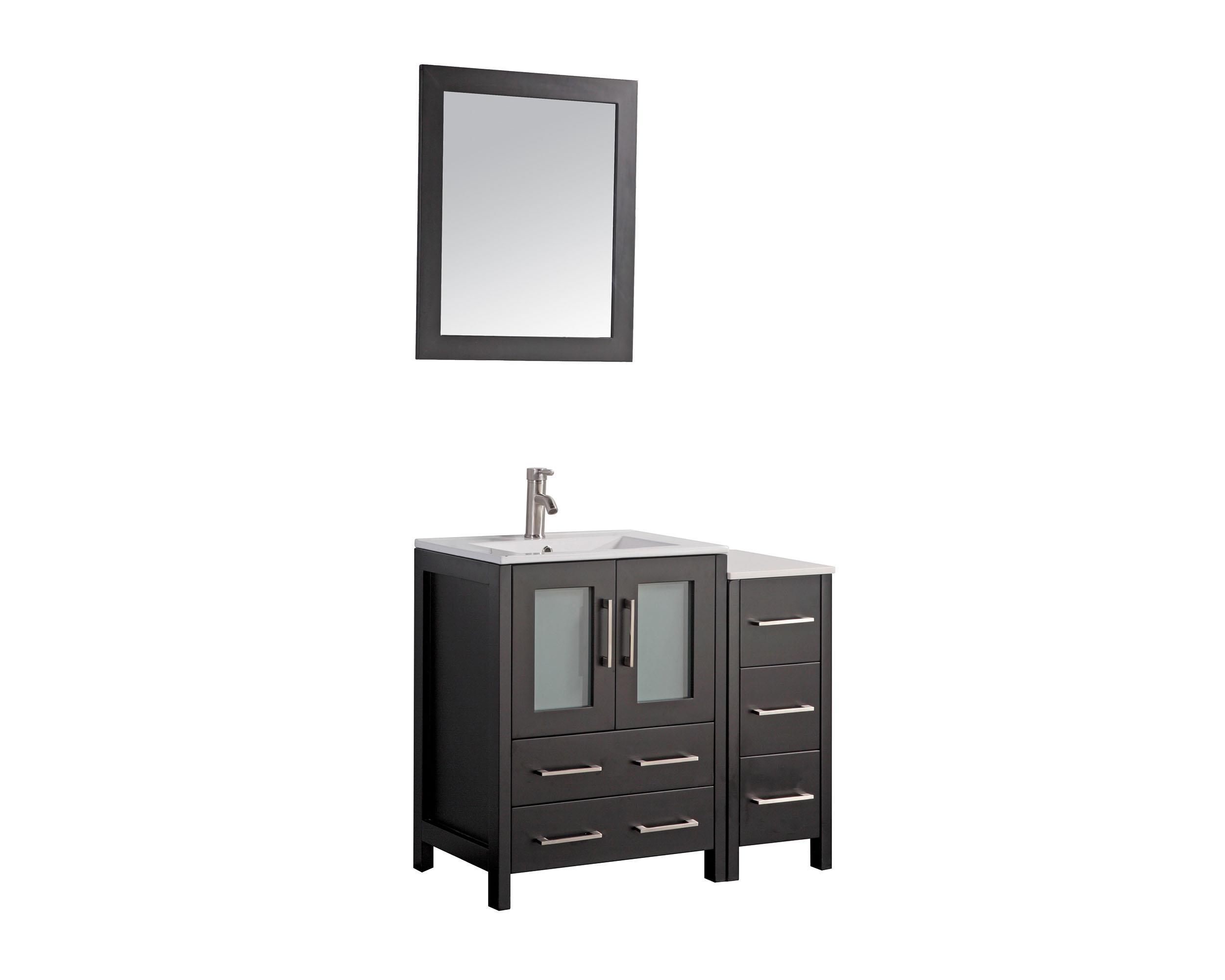 vanity art 36 inch single sink bathroom vanity set with ceramic vanity top walmart com