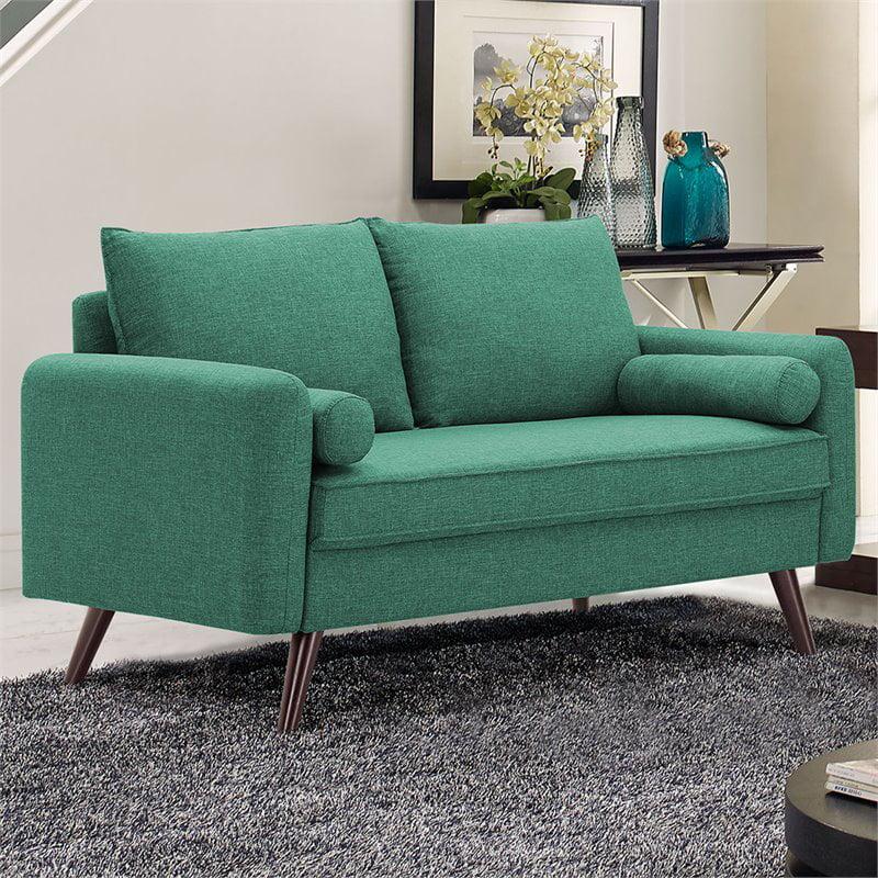 Lifestyle Solutions Calden Loveseat With Hairpin Legs Seafoam Green Fabric Walmart Com Walmart Com