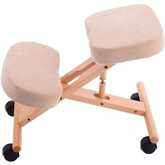 Ergonomic Chair Knee Rest How To Reupholster A Dining Room New Mtn G Quality Wooden Frame Adjustable Posture Mobile Kneeling Aches