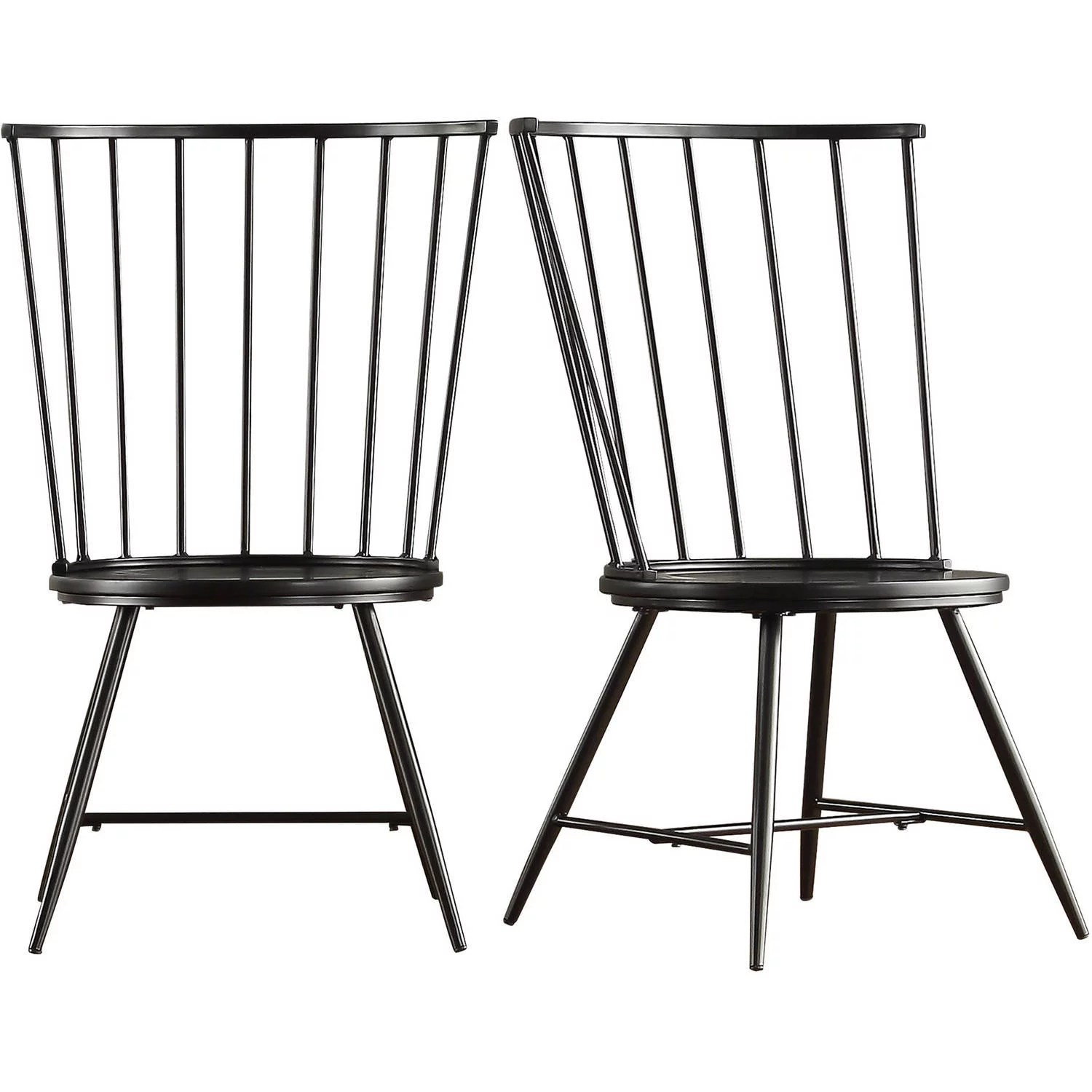 Windsor Chairs Black Chelsea Lane High Back Windsor Side Chair Set Of 2 Multiple Colors