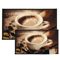 Coffee Rugs For Kitchen Pass Through Window Bean Rug Area Mat Carpet Non Skid Latex Back