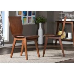 Bentwood Dining Chair Folding Beach Chairs Uk Baxton Studio Elsa Mid Century Modern Scandinavian Style Dark Walnut Bent Wood