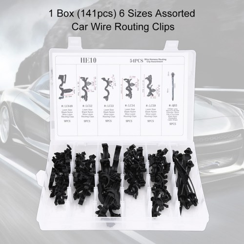 small resolution of 54pcs 6 sizes assorted car wiring harness wire routing clip convoluted conduit clip wire routing clip kit wire clip kit walmart com