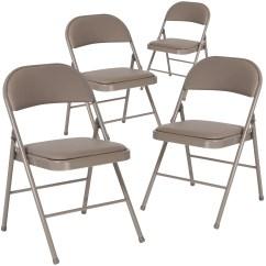 Vinyl Folding Lawn Chairs Recliner Lift Chair Covers Flash Furniture Beach Walmart Com Product Image 4 Pk Hercules Series Double Braced Gray