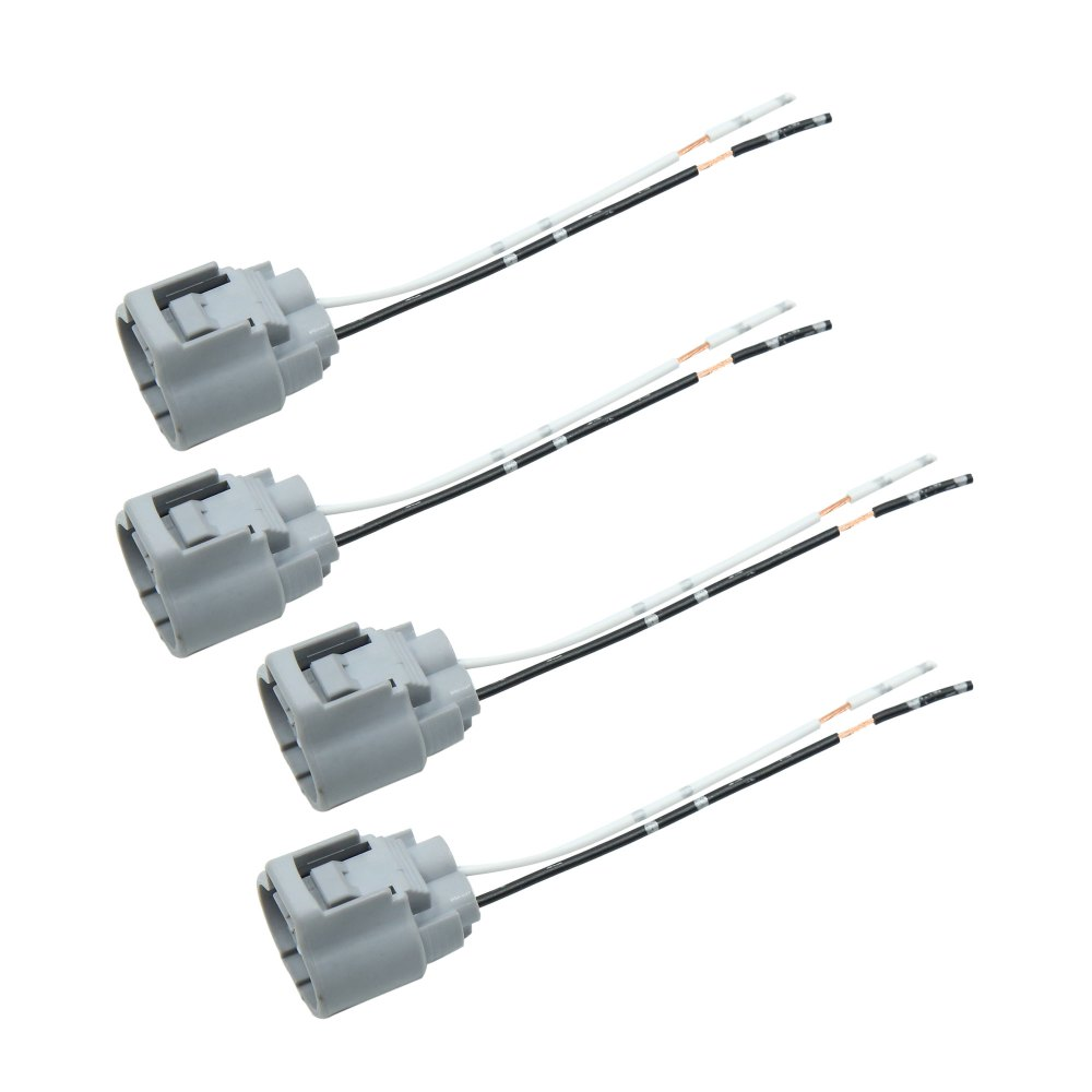 medium resolution of 4pcs dc 12v universal ignition coil plug wiring harness connector for cars walmart com