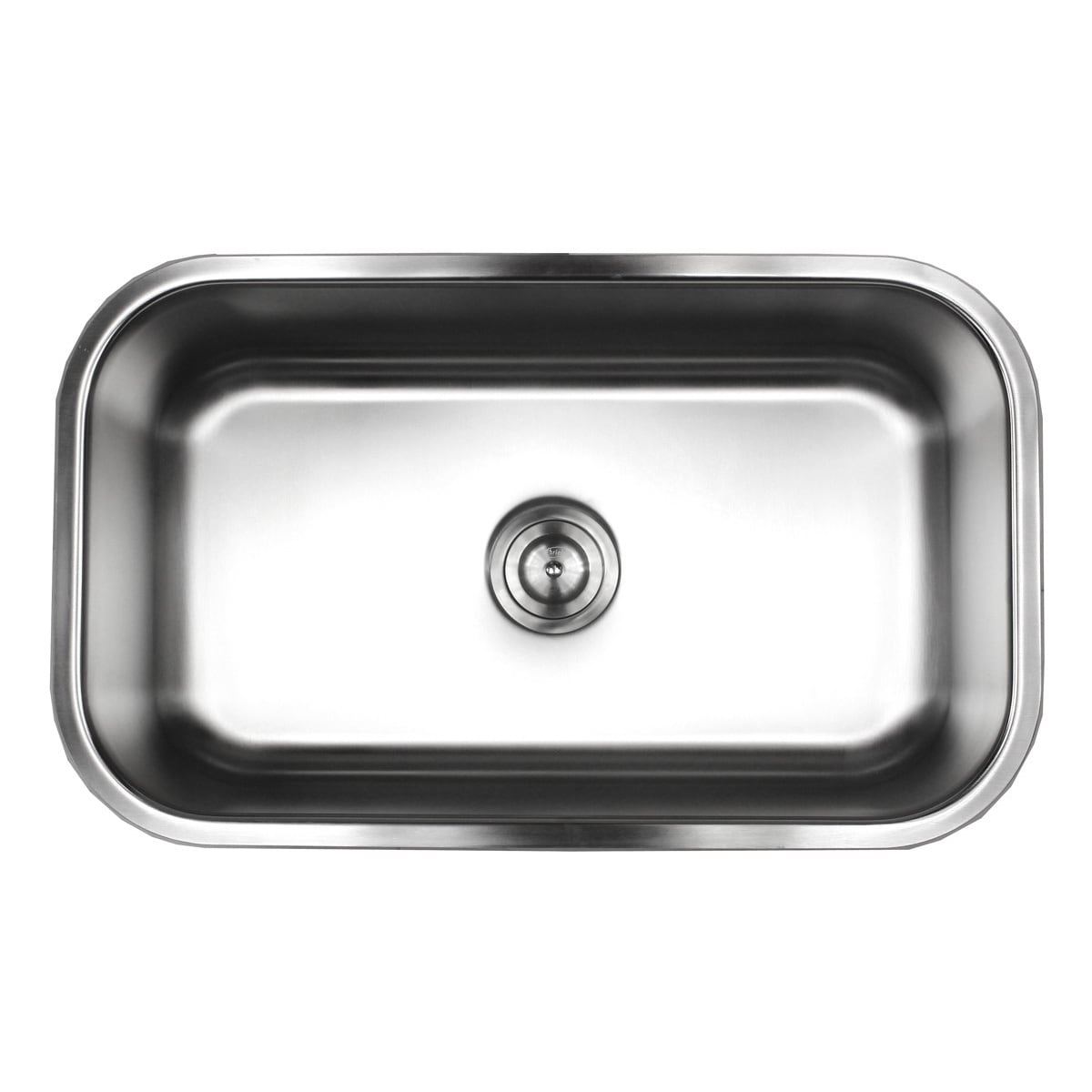 contempo living 18 960 30 inch 18 gauge stainless steel undermount single bowl kitchen sink 10 inch deep