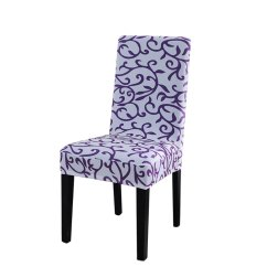 Dining Room Chair Covers Walmart.ca Relax The Back For Sale Removable Stretch Slipcovers Short Seat Cover White + Purple