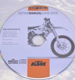 ktm 3206235 2008 2016 400 530 exc xc w repair manual cd disc qty 1 walmart com [ 2464 x 1632 Pixel ]