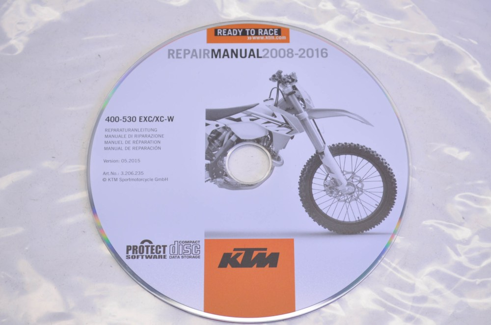 medium resolution of ktm 3206235 2008 2016 400 530 exc xc w repair manual cd disc qty 1 walmart com
