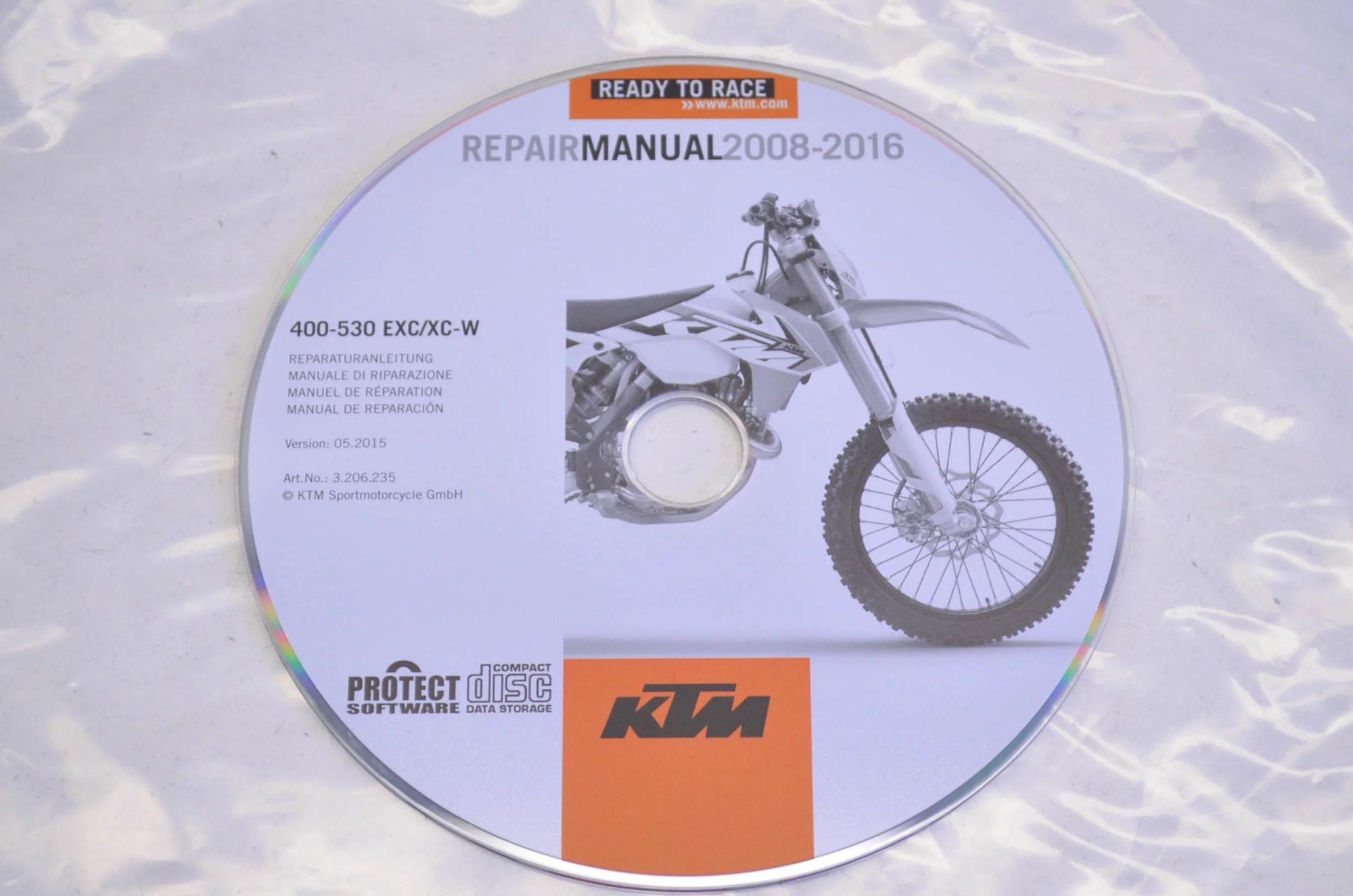hight resolution of ktm 3206235 2008 2016 400 530 exc xc w repair manual cd disc qty 1 walmart com