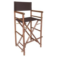 Bamboo Directors Chairs Kids High Chair 29 In Bar Height With Solid Cover Set Of 2 Walmart Com