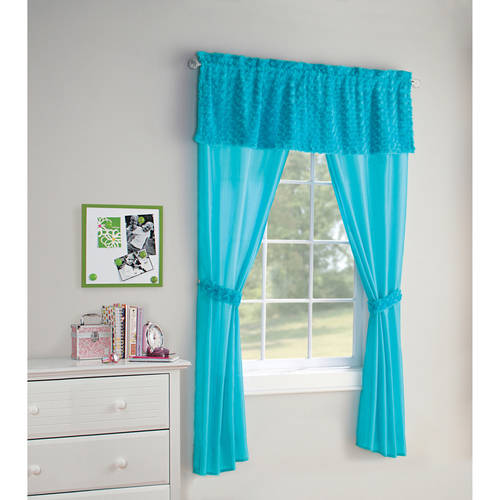 Your Zone 5Piece Poodle Girls Bedroom Curtain Set
