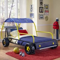 Powell Furniture Twin Dune Buggy Car Bed with Wheels ...