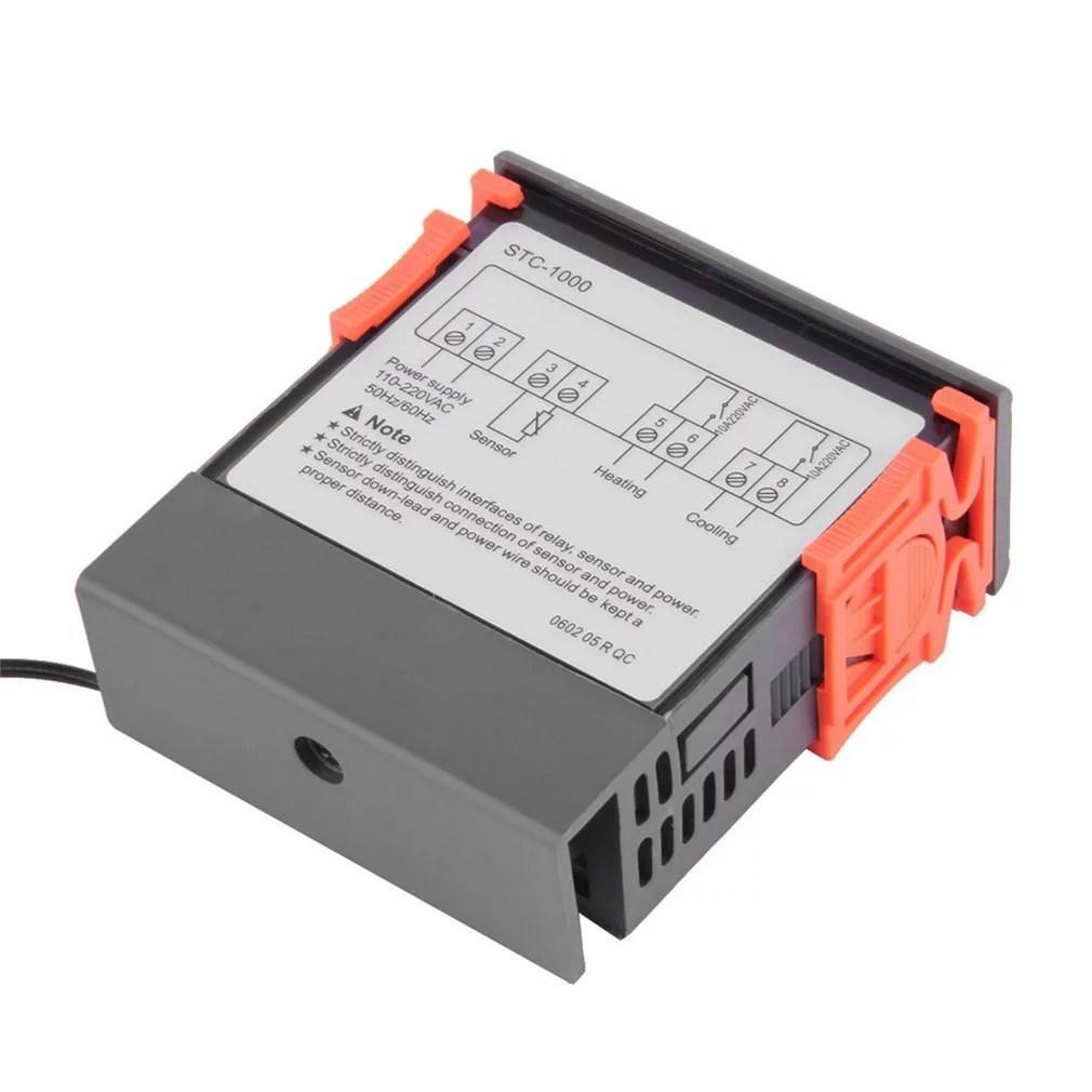 black stc 1000 all purpose temperature controller thermostat with temp w sensor thermostat aquarium control how wire stc1000 [ 1010 x 1010 Pixel ]