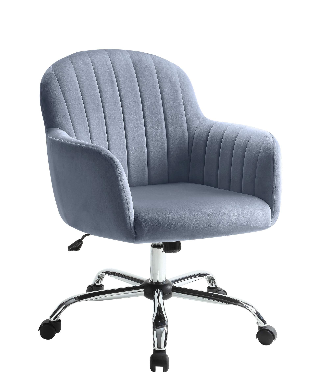 hight resolution of furniture of america tessa gray velvet like vertically tufted office chair walmart com