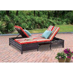 Lounge Chair Walmart Design Angles Mainstays Outdoor Double Chaise Lounger Stripe Seats 2 Com