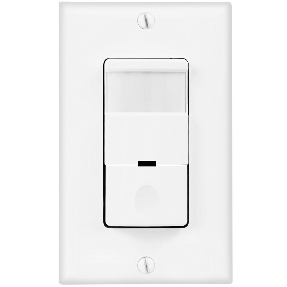 medium resolution of topgreener pir motion sensor light switch 500w infrared occupancy vacancy motion detector sensor single pole with neutral wire wall plate tdos5 white