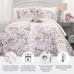 Lush Decor Pixie Fox Quilt Reversible 3 Piece Bedding Set Gray Pink Twin Quilt Set Walmart Com Walmart Com