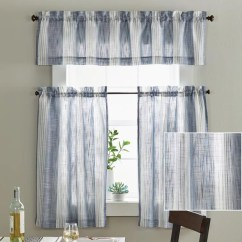 Kitchen Drapes Price Pfister Faucets Curtains Walmart Com Product Image Better Homes Gardens Woven Stripe Tier Set