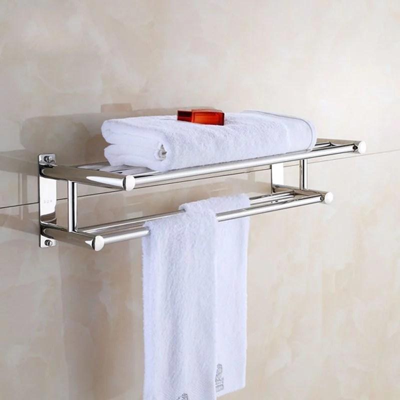 ebtools towel rack stainless steel solid polished chrome towel rack towel wall shelf bathroom towel rack