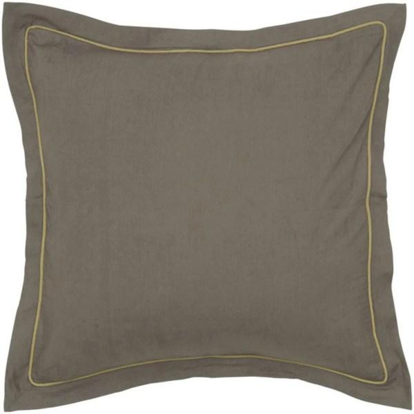 Rizzy Home Bt1227 Brown Cotton Satin Euro Sham