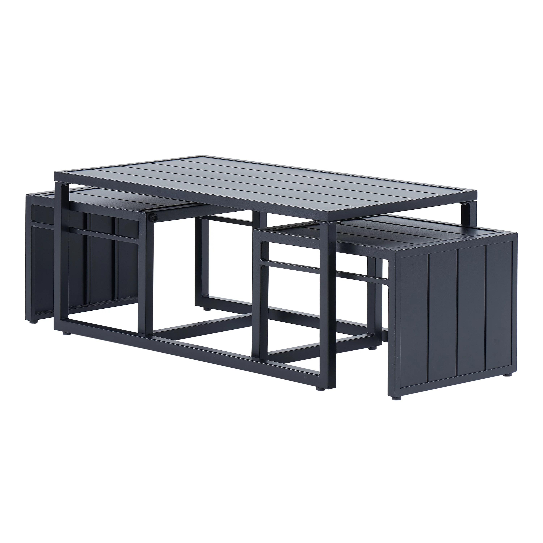 better homes gardens kolton 3 piece patio nesting table set