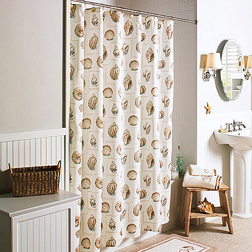 Better Homes And Gardens Shells Shower Curtain Walmart Com. Seashell Shower Curtain Walmart