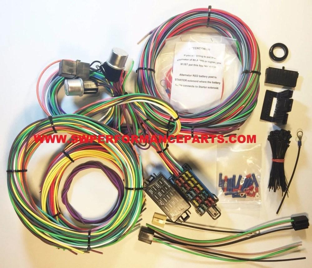 medium resolution of new 21 circuit ez wiring harness mini fuse chevy ford hotrods universal xl wires swpp walmart com
