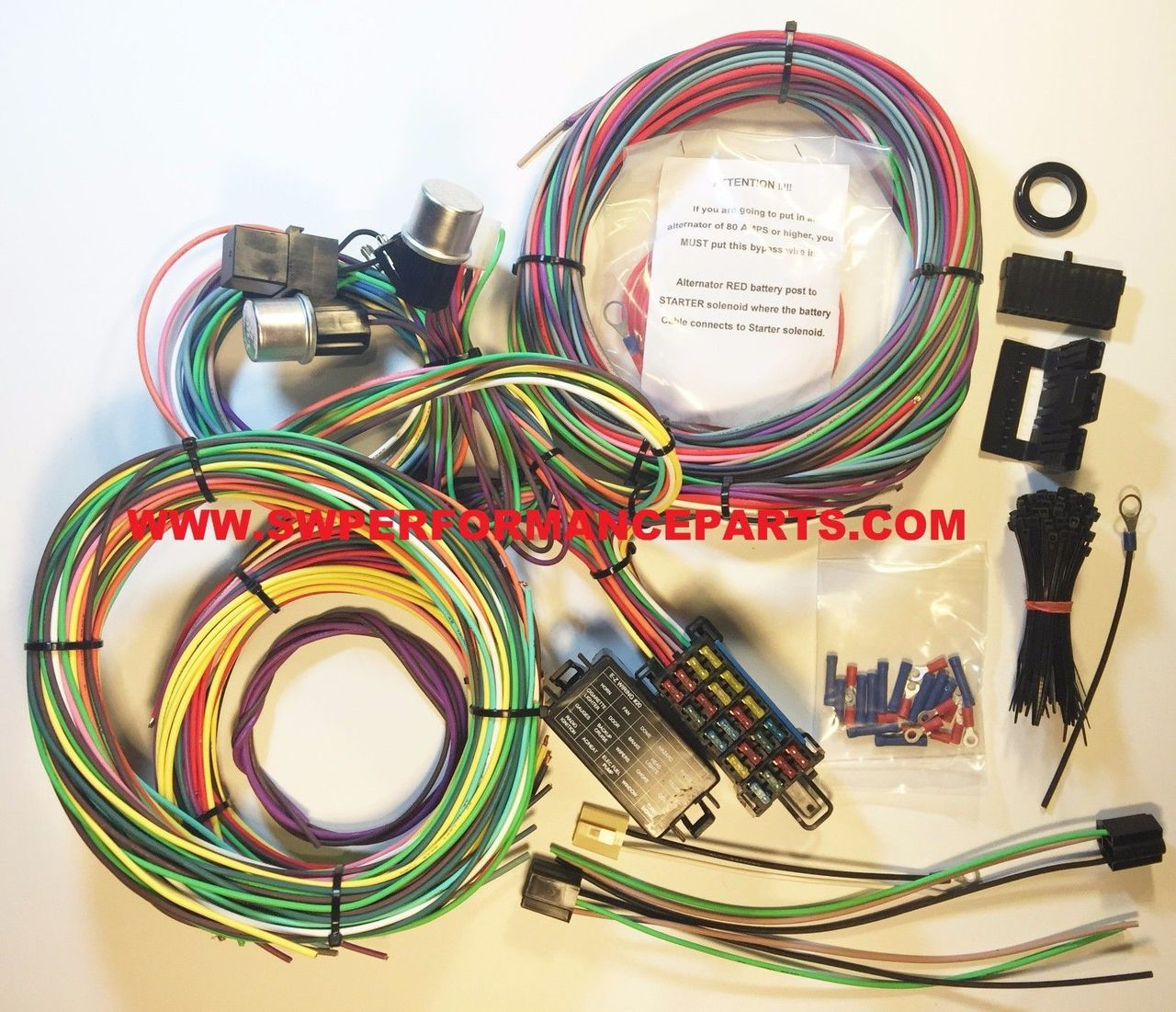hight resolution of new 21 circuit ez wiring harness mini fuse chevy ford hotrods universal xl wires swpp walmart com