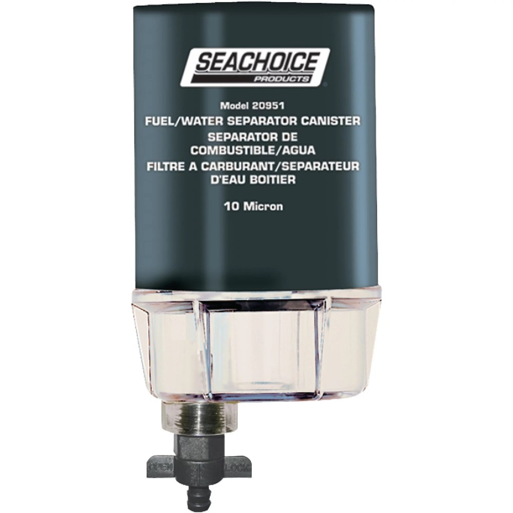 medium resolution of seachoice 10 micron fuel water separating filter with see thru plastic bowl for outboards walmart com