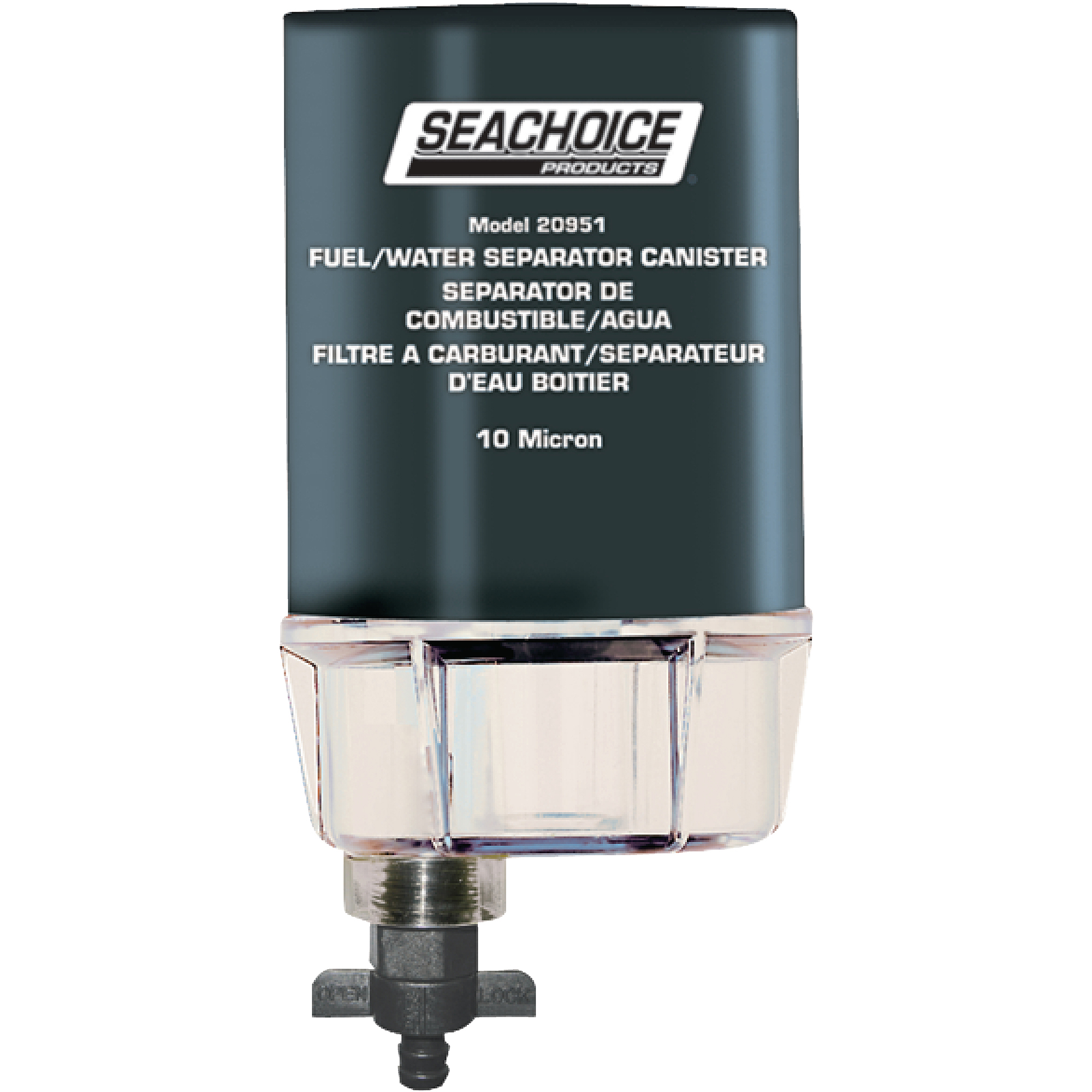 hight resolution of seachoice 10 micron fuel water separating filter with see thru plastic bowl for outboards walmart com
