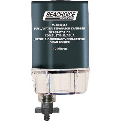 small resolution of seachoice 10 micron fuel water separating filter with see thru plastic bowl for outboards walmart com