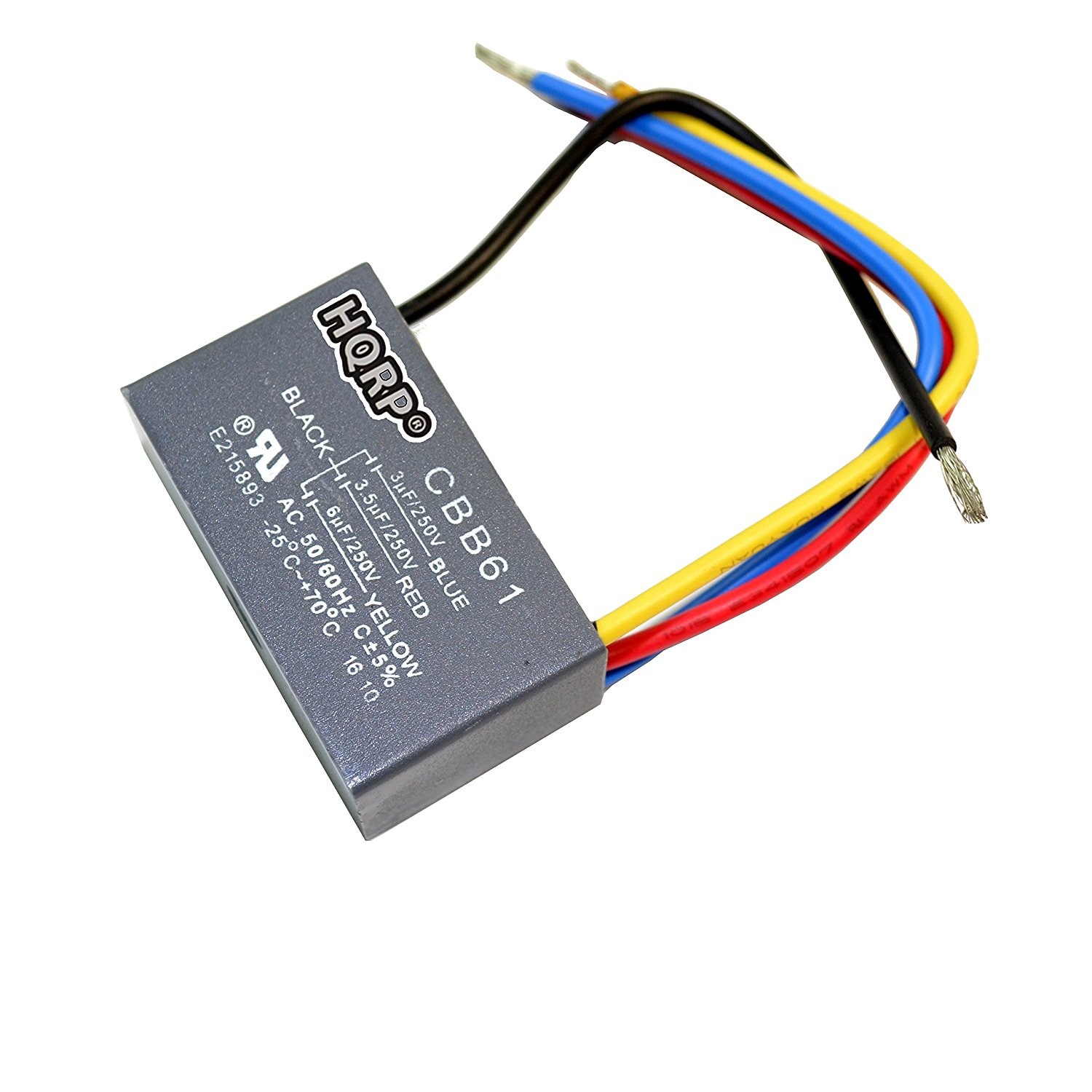 hqrp capacitor for hampton bay ceiling fan 3uf 3 5uf 6uf 4 wire plus hampton bay fan light wiring hampton bay ceiling fan capacitor wiring [ 1500 x 1500 Pixel ]