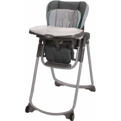 Graco Slim Spaces High Chair Camping Folding Chairs Space Saver Chair, Manor - Walmart.com