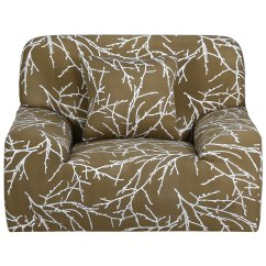 Single Couch Chair Cover Folding Chairs For Less Reviews Stretch Sofa Covers Slipcovers