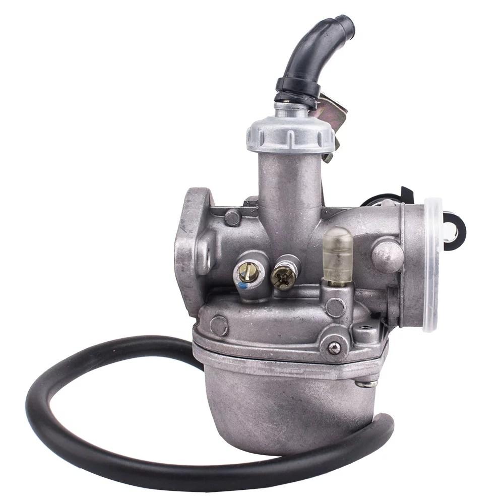 hight resolution of 19mm carburetor carb pz19 with fuel filter for chinese 50 70 90 110 cc atv quad 4 wheeler walmart com