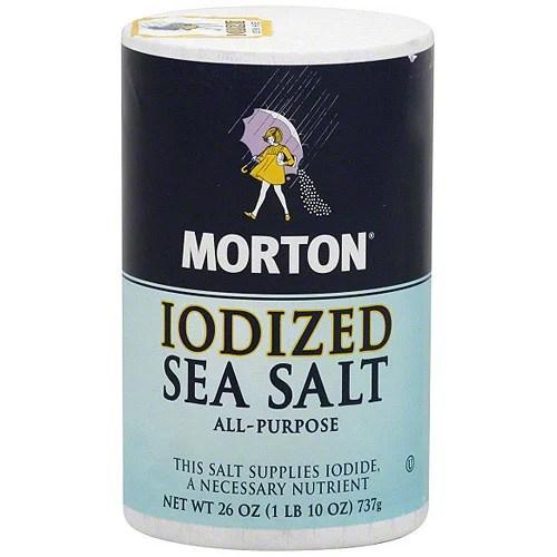 Morton Iodized Sea Salt 26 oz (Pack of 12) - Walmart.com