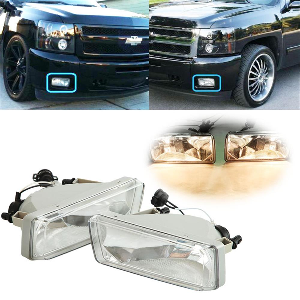 hight resolution of beamnova 2 pack h16 5202 rectangle halogen fog lights bulb kit with wiring harness for 2007 2013 chevy suburban avalanche tahoe silverado 2014 chevy