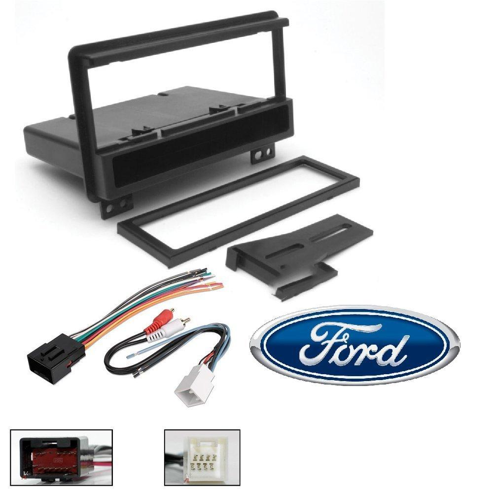 hight resolution of scosche fd1422b single din installation dash kit for select 2001 06 ford with wire harness walmart com