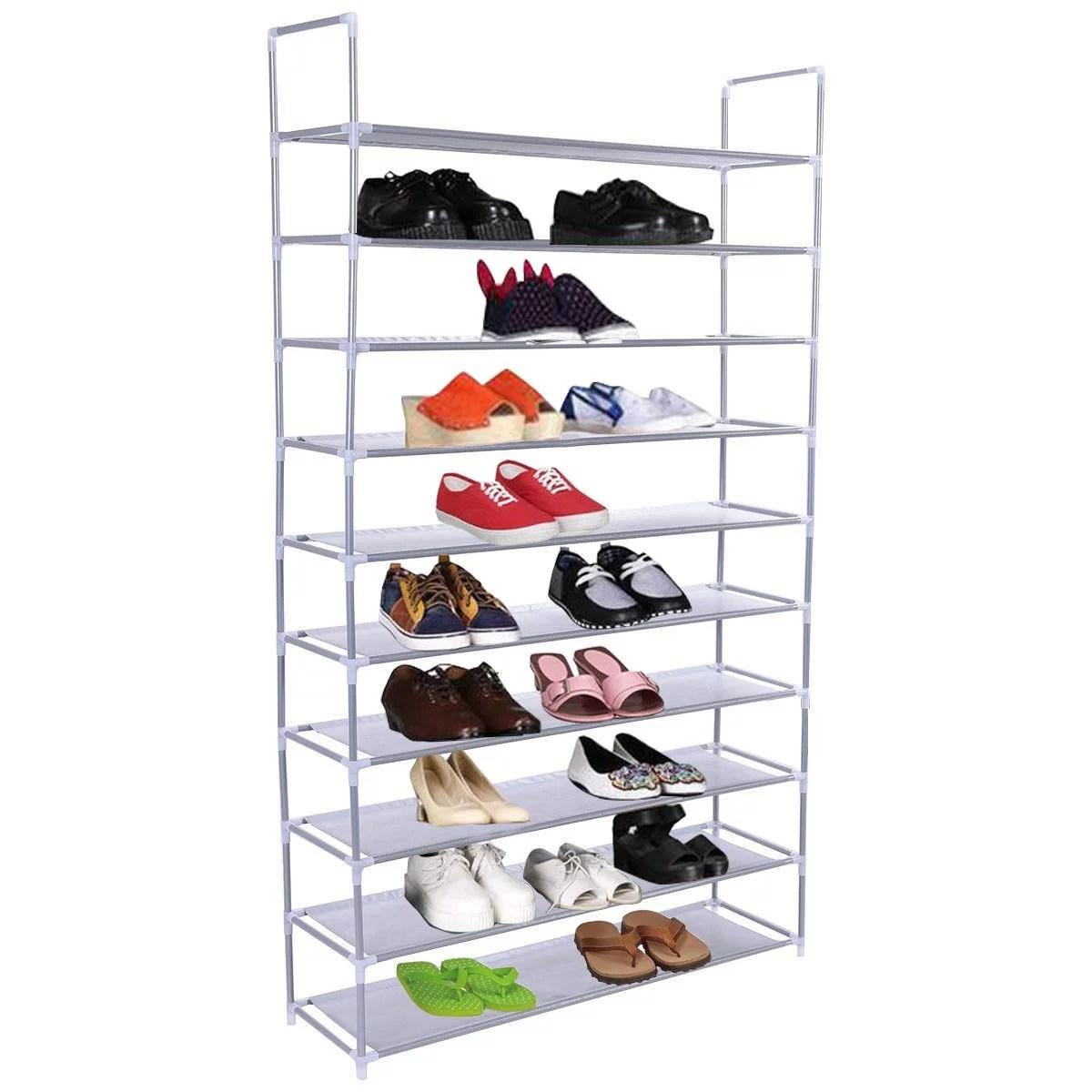 50 pair 10 tire shoe rack shelf home storage organizer closet cabinet portable