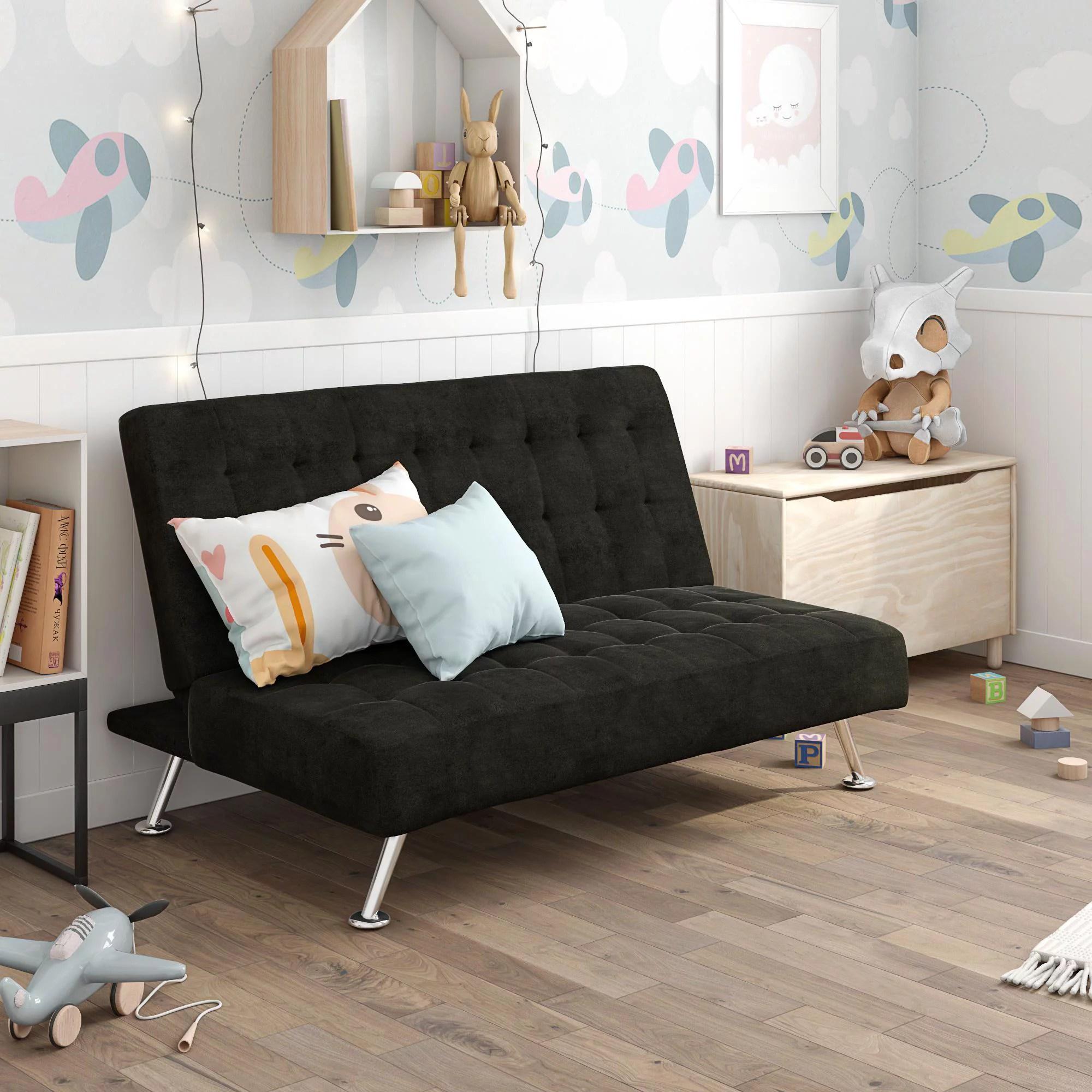 dhp milo kids sofa futon multiple colors black walmart com